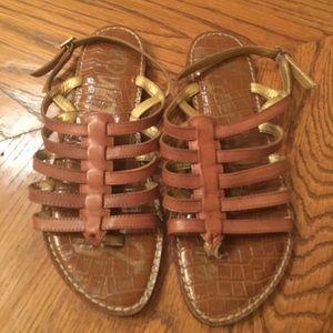 Sam Edelman Brown Strappy Sandals !!!!