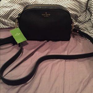 Kate spade black leather darian crossbody handbag