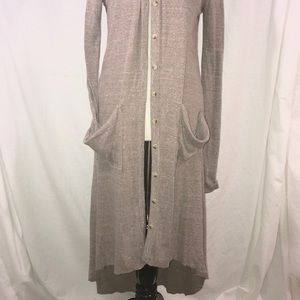 Free people beach cardigan duster high low sweater
