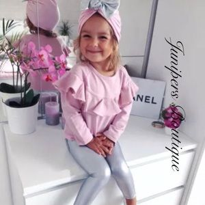 Boutique Girls fashionista Pink & Silver 3pc Set