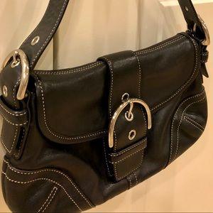 Coach Black Leather Soho Flap Bag