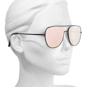 Quay living large mirrored aviator sunglasses