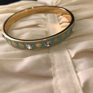 Kate Spade Gold & Light Blue Bangle with Gems