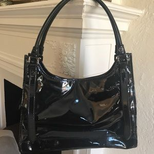 NWOT Authentic Burberry Black Patent Bag
