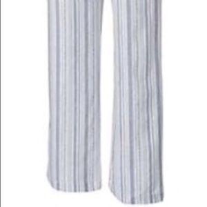 NWT Navy striped Linen Beach Pants