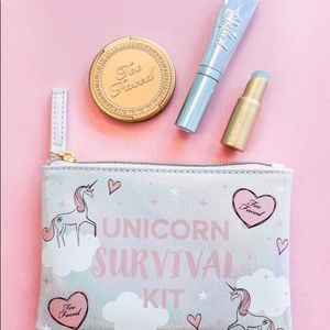 BNIB too faced unicorn survival kit