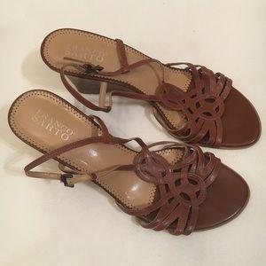 Franco Sarto Chestnut brown wedge sandal