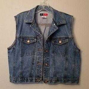 Vintage Denim Boyfriend Button up XL Vest