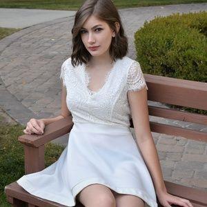 Charlotte Russe Half-Lace Dress