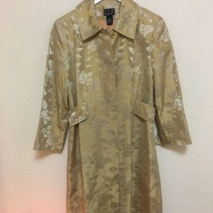INC small peacoat Gorgeous floral gold