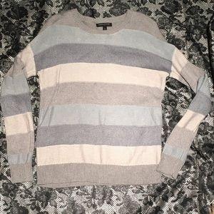 J. Crew striped blue/metallic sweater Sz S! EUC!