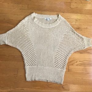 Forever 21 beige cream batwing sweater small