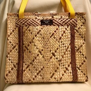 ✨EUC Harl Taylor Nassau Bahamas Straw Tote Bag