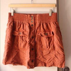 Life in Progress orange button up skirt