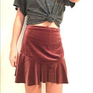 NEOT velvet skirt