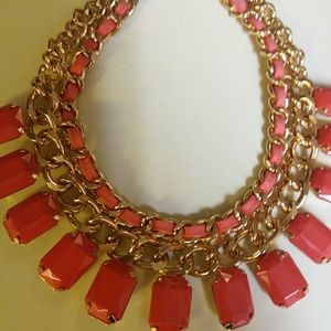 Colorful choker style necklace