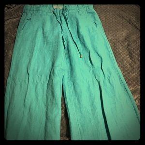 Guess linen wide leg pants