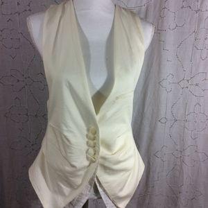Hot & Delicious Cream Tuxedo Vest
