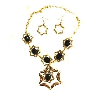 Beautiful and Elegant stars Necklace and Earrings