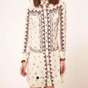 ❤️DISO!!! ASOS Floral Embroidered Shirt Dress❤️