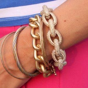 NEW J. Crew Classic Pave Link Bracelet
