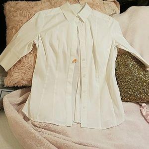 WHBM white blouse