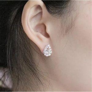 Silver Diamond CZ Earrings