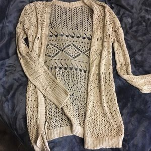Crotched cardigan.