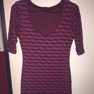 G by guess two tone burgundy dress