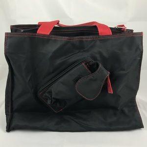 Un Apres-Midi de Chien Nylon Bag w/ red stitching
