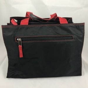 Un Apres-Midi de Chien Nylon Bag w/ red stitching