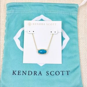 Kendra Scott Elisa turquoise gold necklace