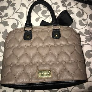 Betsy Johnson Grey purse