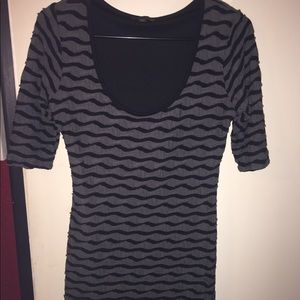 G by guess black and gray dress