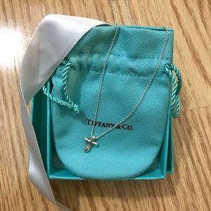 Tiffany & Co. 925 mini cross necklace
