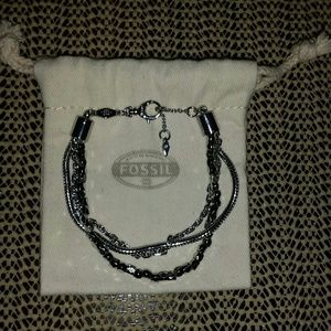 NWOT Fossil Layered Chain Bracelet