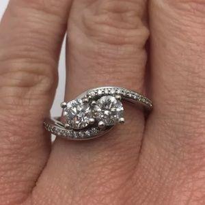 "Jewelry - Amazing 1.10 carat 14k ""forever us"" diamond ring"
