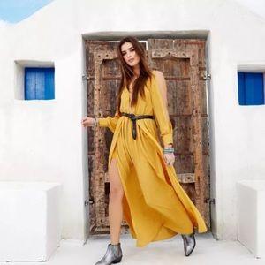 Nasty Gal yellow maxi dress