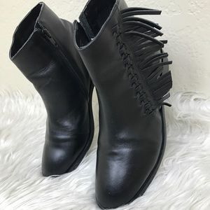 Leather booties.