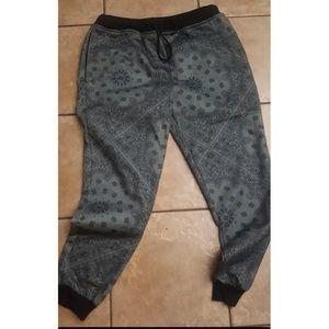 zumiez Bandanna Print Sweatpants