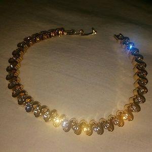 Beautiful Glittering Faux Gold Tennis Bracelet