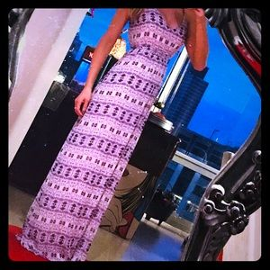 💜 Purple & White Maxi Dress 💜