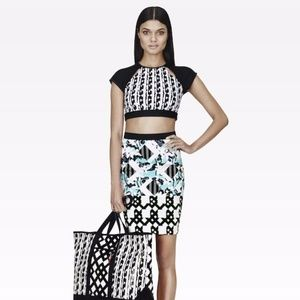 Peter Pilotto Geometric Multi Color Pencil Skirt