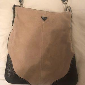 Suede Prada Crossbody Bag