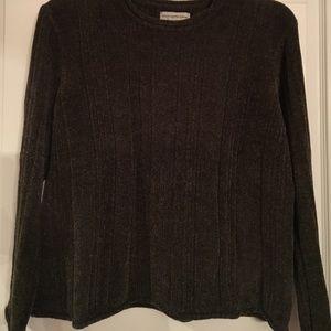 Sage Green Velour Sweater