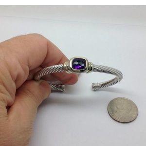 David Yurman amethyst Noblesse bracelet