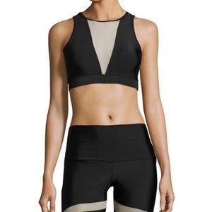NWT Onzie Briana Mesh Sports Bra, Blk/Nude Size Sm