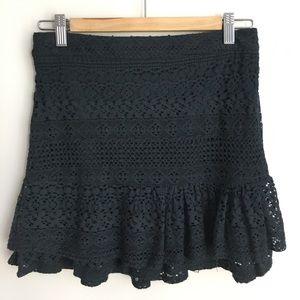 Women's Forever 21 Knit Lacey Blue Mini Skirt