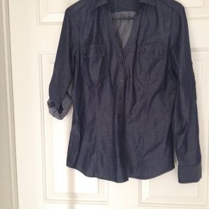 Express Black Formal / Party shirt