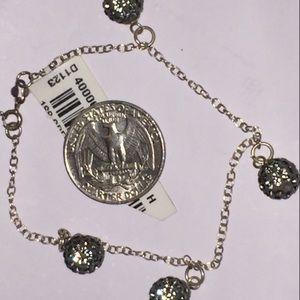 🆕 NWT 925 shamballa bracelet ball charm silver